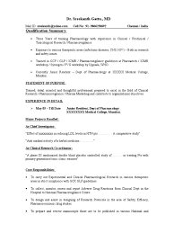 Sample Resume Pharmacovigilance Clinical Trial Mbbs Student 15070