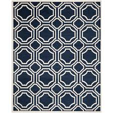safavieh amherst mosaic navy ivory indoor outdoor moroccan area rug common 9