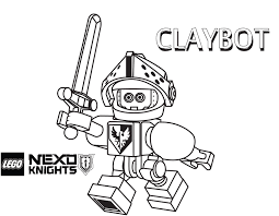 Small Picture Claybot Coloring Page Printable Sheet LEGO Nexo Knights