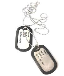 ammvi creations electro polished classic duo pendant dog tag necklace for men