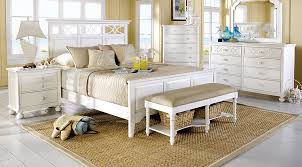 beachy bedroom furniture. Cindy Crawford Home Seaside White 7 Pc King Panel Bedroom - Sets Beachy Furniture Rooms To Go