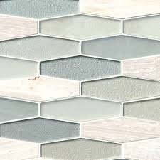 glass mosaic backsplash tile elongated hexagon 8 mm glass and stone mosaic  elongated hexagon 8 mm