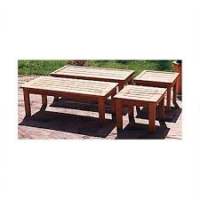 View A Larger Image Of Woodworking Project Paper Plan To Build Patio Coffee  Table And End