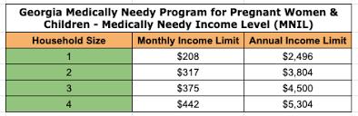 Georgia Medicaid Income Limits 2019 Georgia Food Stamps Help