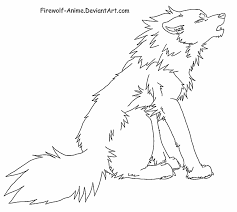 wolf howling drawing anime. Unique Drawing Howling Wolf Line Art By FirewolfAnime  And Drawing Anime I