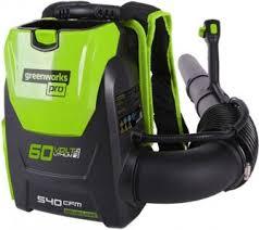 Аккумуляторная ранцевая <b>воздуходувка GreenWorks GD60BPB</b> ...