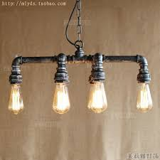 Antique industrial lighting fixtures Bedroom Lampe Vintage Industrial Lighting Fixtures Water Pipe Edison Pendant Lamp With Lights For Cafe Foyer Bar American Loft Style Pinterest Lampe Vintage Industrial Lighting Fixtures Water Pipe Edison Pendant
