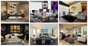 Zebra Living Room Decor Dramatic Zebra Living Room Decoration Ideas