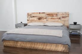 reclaimed wood king platform bed. Custom Made Reclaimed Wood Platform Bed King L
