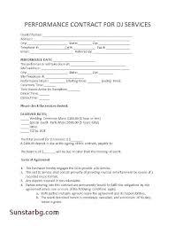 Service Proposal Template Photos Sample Dj Business