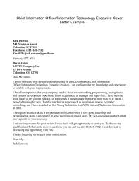 Awesome Collection Of Sample Cover Letter For Technology Job On