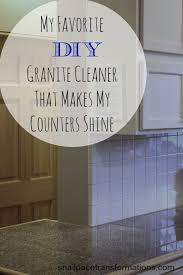 my favorite diy granite countertop cleaner that makes my counters shine
