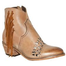circle g womens cognac fringe and cut out tan boots