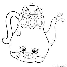 Small Picture Print Petkins Tea Pot from Season 5 shopkins season 5 coloring