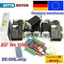【<b>EU</b>】 <b>4 Axis</b> Nema23 112mm Stepper Motor Dual Shaft 425oz-in 3A ...