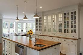 an alternative to typical closed cabinetry this kitchen features a china cabinet that gives more of an open feel be sure your cabinets are tidy