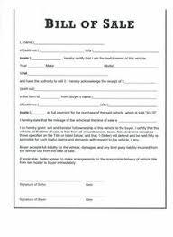Sample Bill Of Sale Form Magdalene Project Org