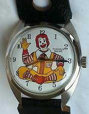 wind up watch men vintage 17j jewel men s adult size ronald mcdonald character watch wind up 70s