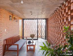 Perforated Brick Wall Design Brick House For A Tropical Climate Living Asean