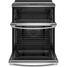 ge profile double oven. Exellent Double GE Profile 67 Cu Ft SlideIn Selfsteam Clean Double Oven Convection  Range With WiFi Connect Ge A