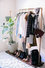 Storage & Organization: Wooden Clothing Rack Ideas - Racks