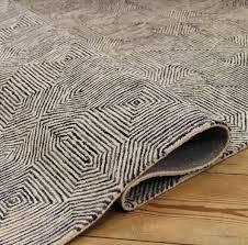 black white rug wool rug for london