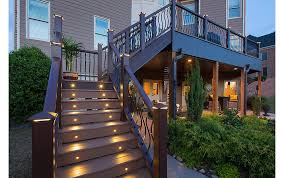 deck ideas. A Great Way To Make Your Deck The Perfect Place For Entertaining At Night Is Include Built-in Lighting. Lighting Along Stairways Not Only Attractive, Ideas E