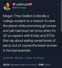 In the past 2 years, megan frequents the billboard charts with her music. Megan Thee Stallion Is About Getting The D As In Degree Blackpeopletwitter