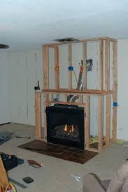 building a fireplace amazing fireplace and built ins build fireplace mantel over brick