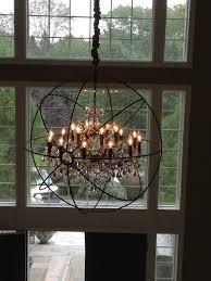 chandelier installation restoration hardware