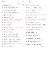 good looking balancing chemical equations worksheet 1 answers answers 3 worksheet balancing equations worksheet um