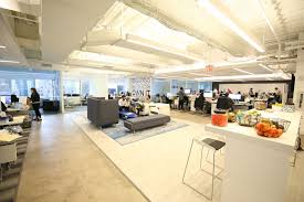 clear office. cozy couches and a stocked kitchen in our nyc office clear new york clear