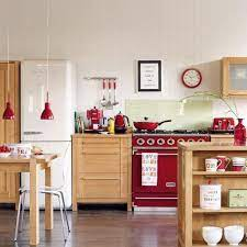 25 Stunning Red Kitchen Design And Decorating Ideas Freestanding Kitchen Red Kitchen Accents Red Kitchen Accessories