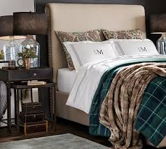 Chesterfield Non Tufted Upholstered Bed Pottery Barn