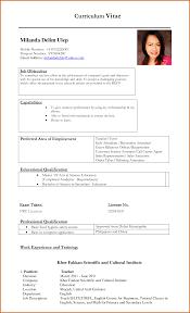 Curriculum Vitae Sample For Teachers Handtohand Investment Ltd