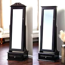 free standing jewelry armoire with mirror unique free standing jewelry box