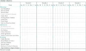 Weekly Household Chores House Chores Schedule Template Household Weekly Chore Organizer Home
