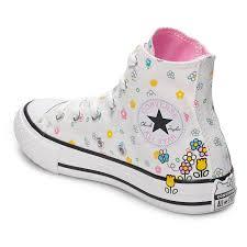 Hello Kitty Size Chart Girls Converse Hello Kitty Chuck Taylor All Star High Top