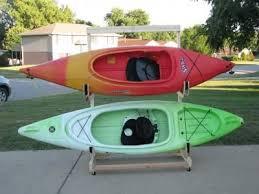 homemade kayak storage rack korey