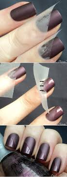 15 Easy Nail Tutorials with Scotch Tape   Tutorials, Brown nail ...