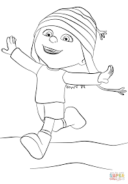 Small Picture Despicable Me Edith coloring page Free Printable Coloring Pages