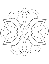 Your child will have a blast letting their creativity flow while filling in one of our printable coloring pages. Flower Rangoli Coloring Page Download Free Flower Rangoli Coloring Page For Kids Mandala Coloring Pages Mandala Coloring Pattern Coloring Pages