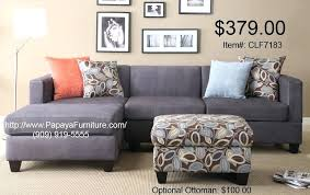 modern charcoal gray microfiber sectional couch with reversible chaise furniture vogue sofa multiple colors