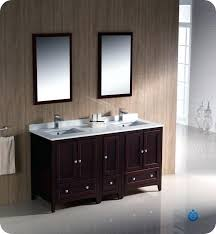 picturesque 60 in bathroom vanity oxford collection mahogany traditional double sink bathroom vanity with top sink