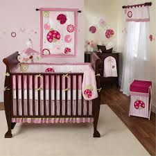 Pink Baby Girl Nursery Themes Ideas Extraordinary Carpet White Wooden Brown  Floor Windows Curtain