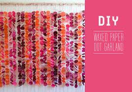 Paper Flower Backdrop Garland Diy Waxed Paper Dot Garland