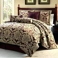 brown and gold bedding red comforter sets dark