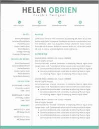 Modern Professional Resume Template Alieninsidernet