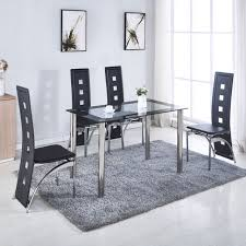 Dining Room Table Sets Leather Chairs Collection Impressive Decorating Design