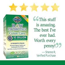 garden of life raw probiotics colon care 30 veggie caps 1 units co uk health personal care